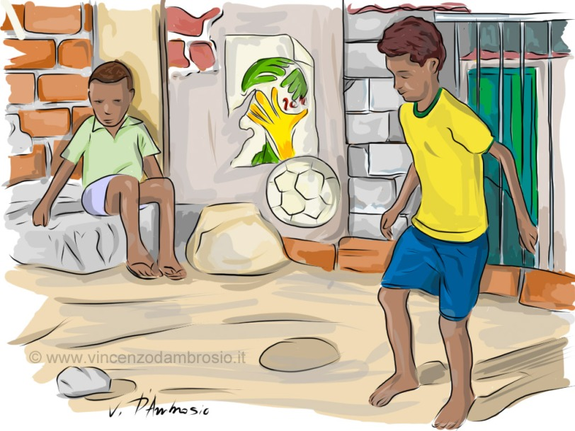 pelada na favela